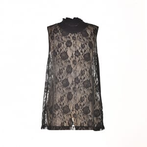 Marianne Lace Top W/O Sleeves Black