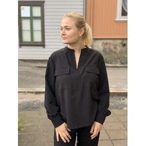 One Two Luxzuz Shirley Blouse Black