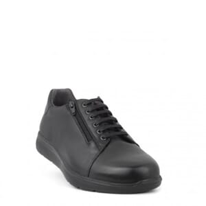 New Feet Laced Shoe Black Leather