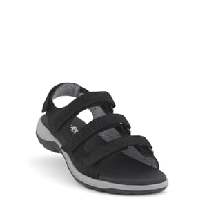 New Feet Sandal Leather Rubber Sole Black
