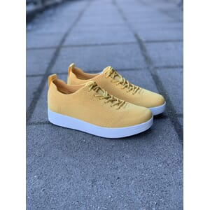 FitFlop Rally Tonal Knit Sneakers Sunshine Yellow